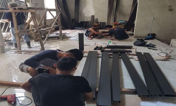 Pengerjaan kusen aluminium althaf aluminium jakarta barat