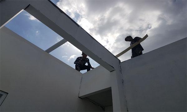 Pemasangan glass roof oleh althaf aluminium jakarta